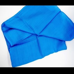 Blue Vintage 100% Silk Scarf